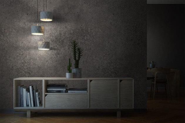 resimdo CO-AB-NS403 Dark Concrete Beton Dekofolie Betonoptik Dunkelgrau Stein selbstklebend für Trennwände und Schränke Beleuchtung