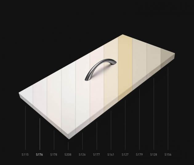resimdo CO-BA-S176 White Beige klebefolie selbstklebend weiß, beige für Küchenmöbel und Schränke Farbskala