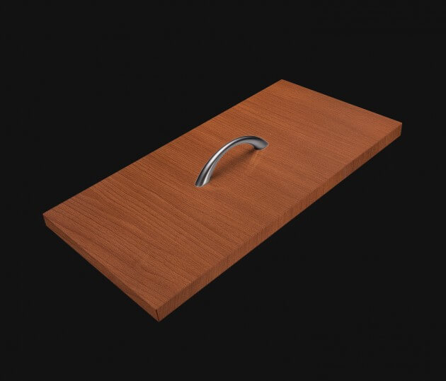 resimdo CO-WO-W171 Red Maple Möbelfolie rot für Küchenschränke, Couchtisch, Wohnzimmerwände und Einbauschränke Schublade