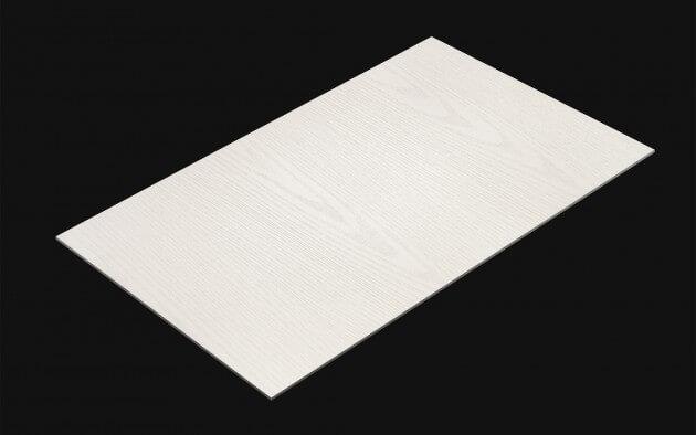 resimdo CO-WO-ZSW04 White Painted Wood Möbelfolie weiß für Möbel, Küchen, Türen kachel